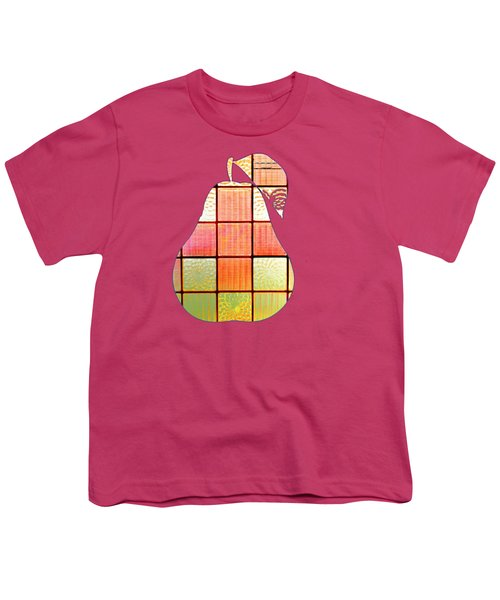 Stained Glass Pear Youth T-Shirt