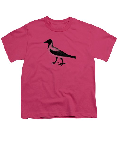 The Hooded Crow Youth T-Shirt by Mark Rogan