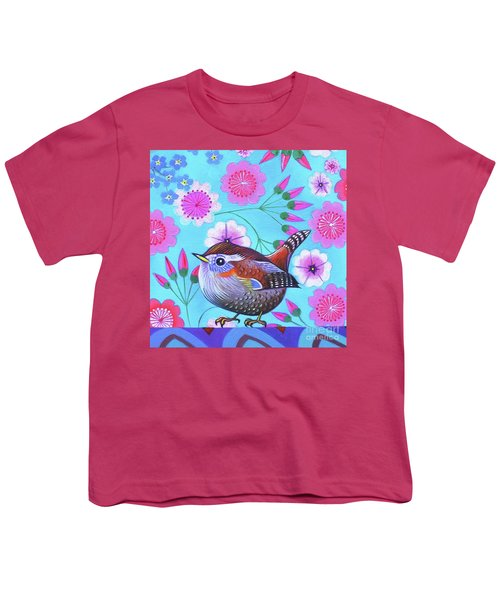 Wren Youth T-Shirt by Jane Tattersfield