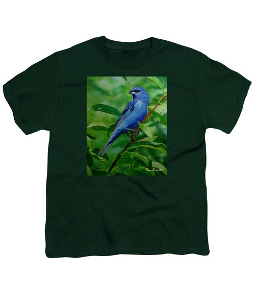 Indigo Bunting Youth T-Shirt by Ken Everett