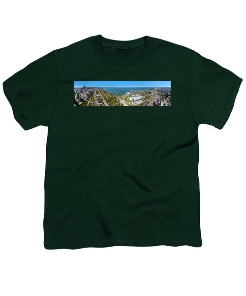 180 Degree View Of A City, Lake Youth T-Shirt by Panoramic Images