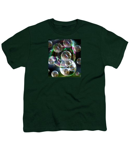 Youth T-Shirt featuring the photograph Bubbles And More Bubbles by Nareeta Martin