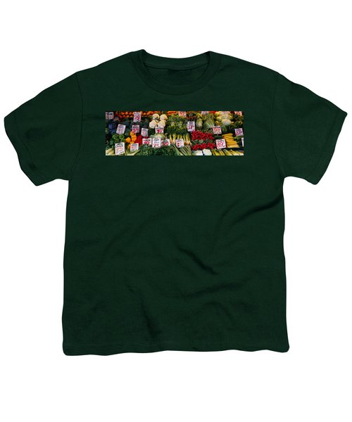 Close-up Of Pike Place Market, Seattle Youth T-Shirt by Panoramic Images