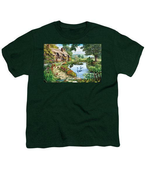 Cottage By The Lake Youth T-Shirt