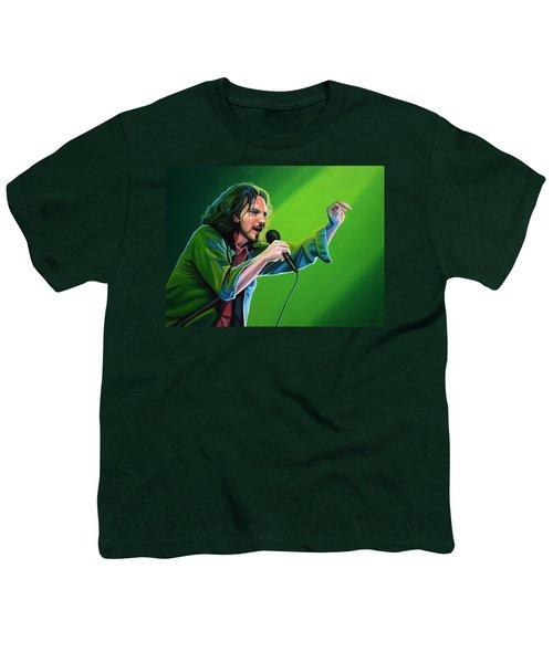 Eddie Vedder Of Pearl Jam Youth T-Shirt by Paul Meijering