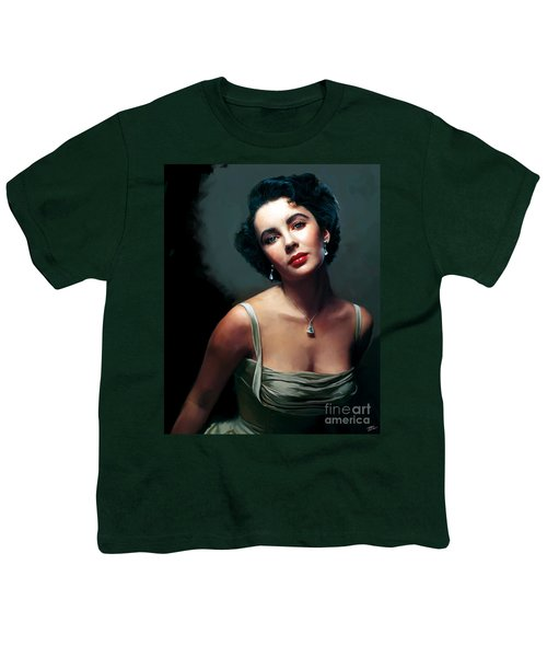Elizabeth Taylor Youth T-Shirt by Paul Tagliamonte