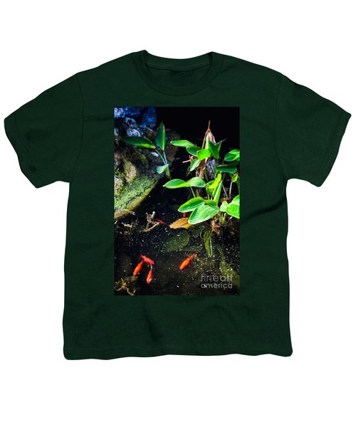 Youth T-Shirt featuring the photograph Goldfish In Pond by Silvia Ganora