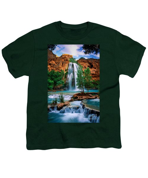 Havasu Cascades Youth T-Shirt by Inge Johnsson