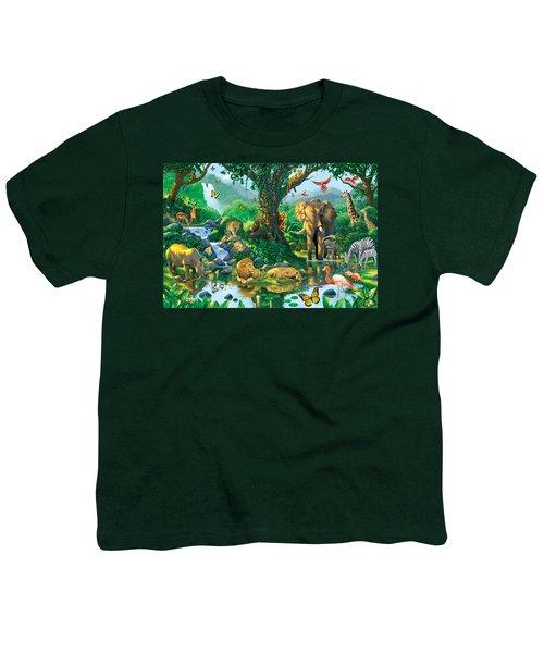Jungle Harmony Youth T-Shirt by Chris Heitt