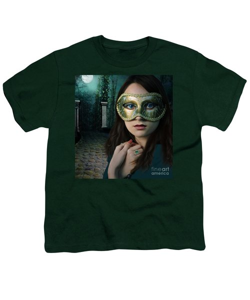 Moonlight Rendezvous Youth T-Shirt by Linda Lees