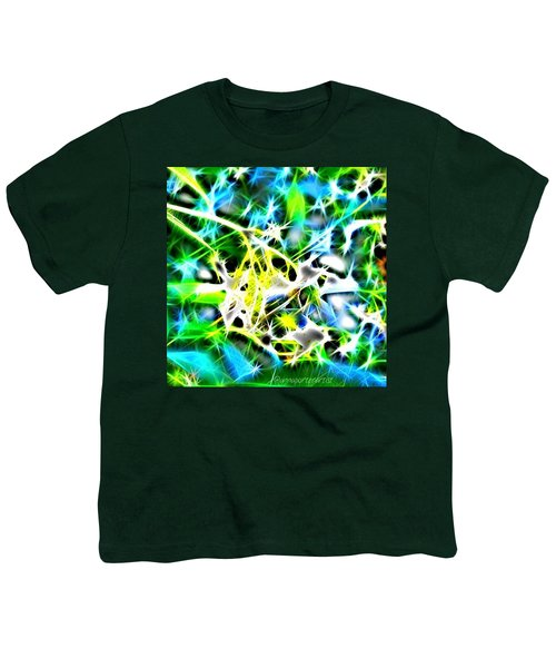 Nature Abstracted Youth T-Shirt by Anna Porter