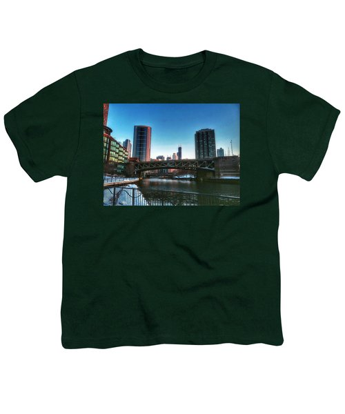 Ohio Street Bridge Over Chicago River Youth T-Shirt