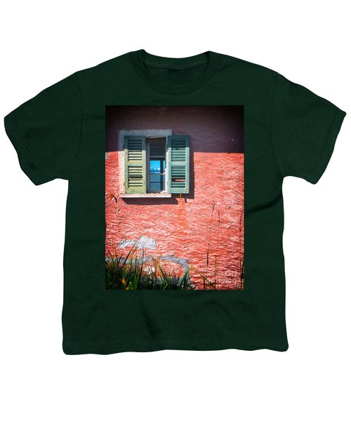 Youth T-Shirt featuring the photograph Old Window With Reflection by Silvia Ganora
