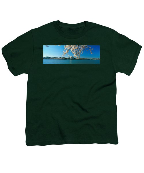Panoramic View Of Jefferson Memorial Youth T-Shirt
