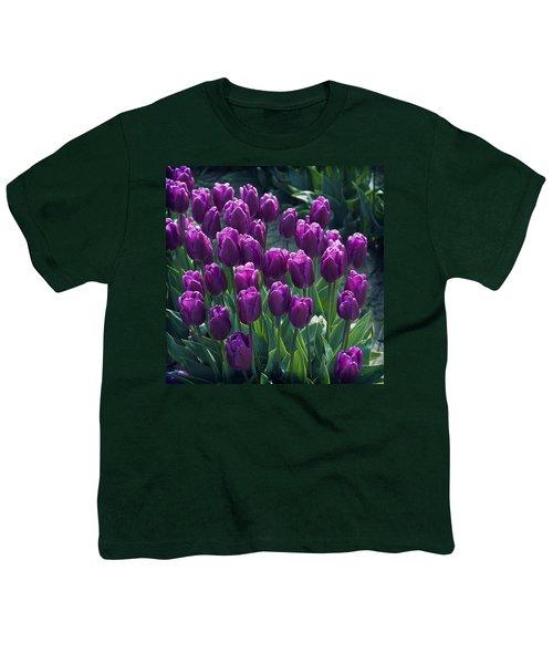 Purple Tulips Youth T-Shirt
