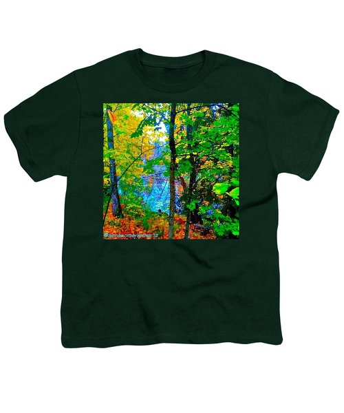 Reed College Canyon Reflections Of Autumn Youth T-Shirt