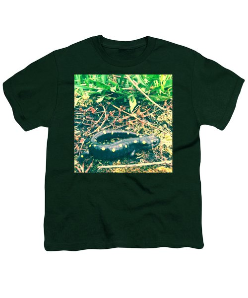 Spotted Salamander Retro Youth T-Shirt