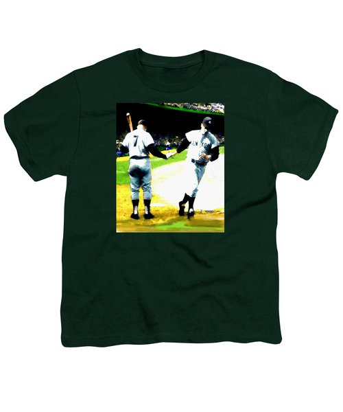 Summer Of The Gods  Iv 1961 Mickey Mantle Youth T-Shirt by Iconic Images Art Gallery David Pucciarelli