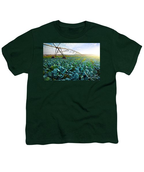 Cabbage Growth Youth T-Shirt by Carlos Caetano