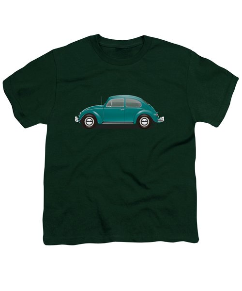 1967 Volkswagen Sedan - Java Green Youth T-Shirt by Ed Jackson