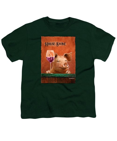 House Swine... Youth T-Shirt by Will Bullas
