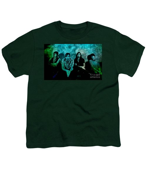 Youth T-Shirt featuring the mixed media Kings Of Leon by Marvin Blaine