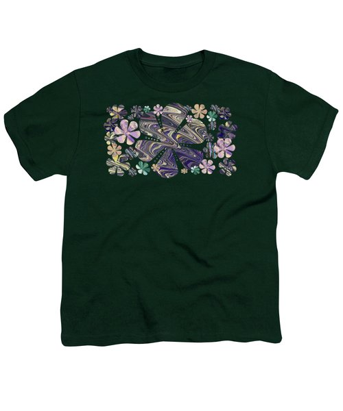 A Field Of Whimsical Flowers Youth T-Shirt