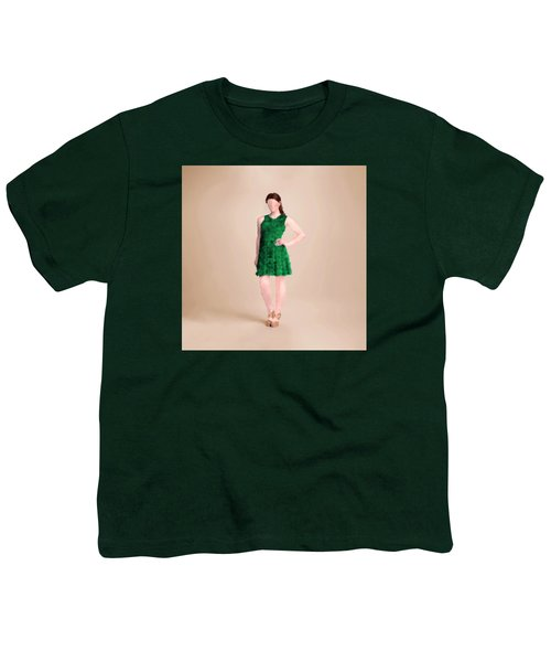 Youth T-Shirt featuring the digital art Ainsley by Nancy Levan