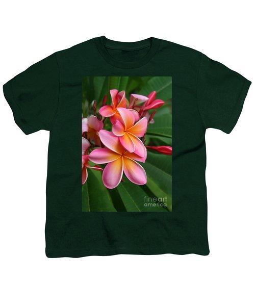 Aloha Lei Pua Melia Keanae Youth T-Shirt by Sharon Mau