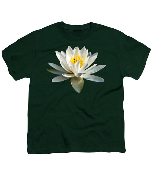 White Water Lily Youth T-Shirt by Christina Rollo