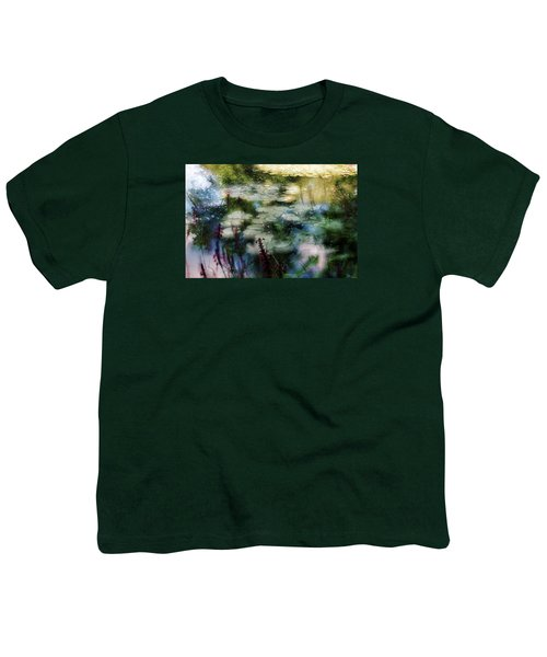 Youth T-Shirt featuring the photograph At Claude Monet's Water Garden 2 by Dubi Roman