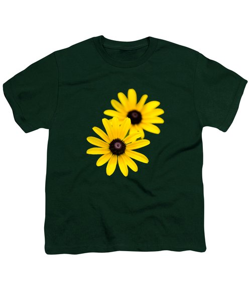 Black Eyed Susans Youth T-Shirt by Christina Rollo
