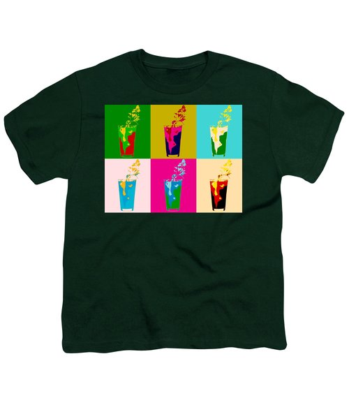 Bloody Mary Pop Art Panels Youth T-Shirt by Dan Sproul
