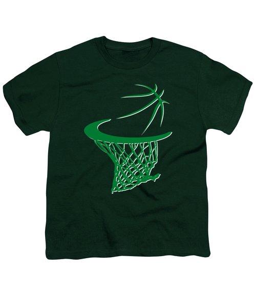 Celtics Basketball Hoop Youth T-Shirt by Joe Hamilton