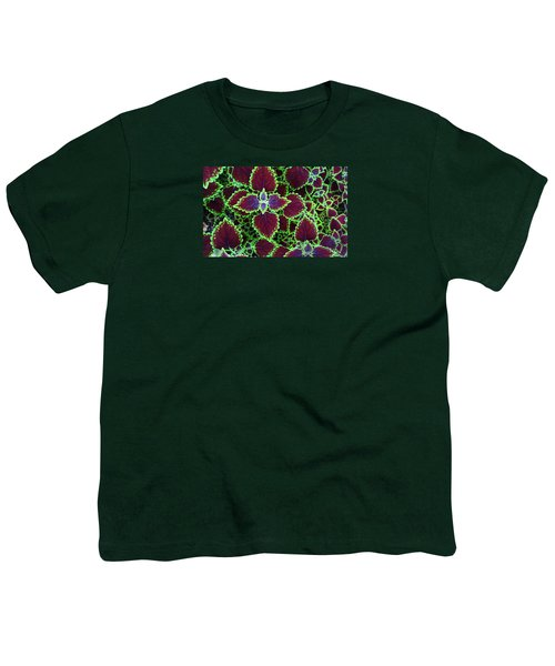 Coleus Leaves Youth T-Shirt by Nareeta Martin