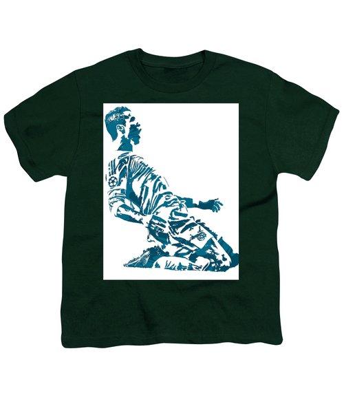 Cristiano Ronaldo Real Madrid Pixel Art 2 Youth T-Shirt