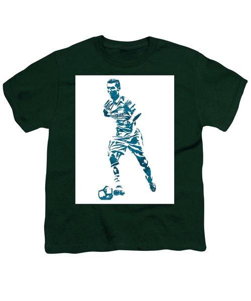 Cristiano Ronaldo Real Madrid Pixel Art 3 Youth T-Shirt