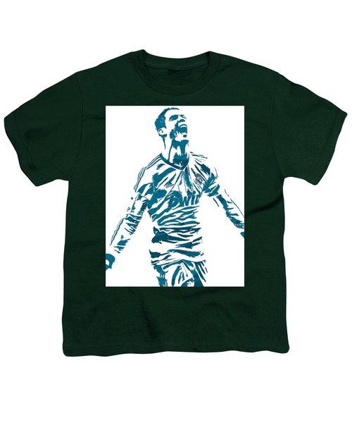 Cristiano Ronaldo Real Madrid Pixel Art 4 Youth T-Shirt