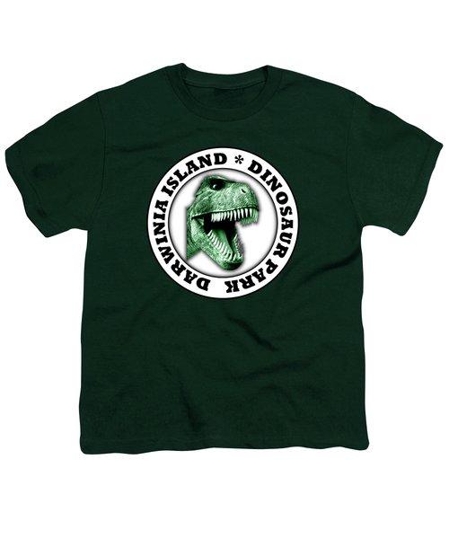Dinosaur Park Youth T-Shirt by Gaspar Avila