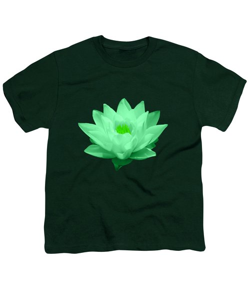 Green Lily Blossom Youth T-Shirt by Shane Bechler