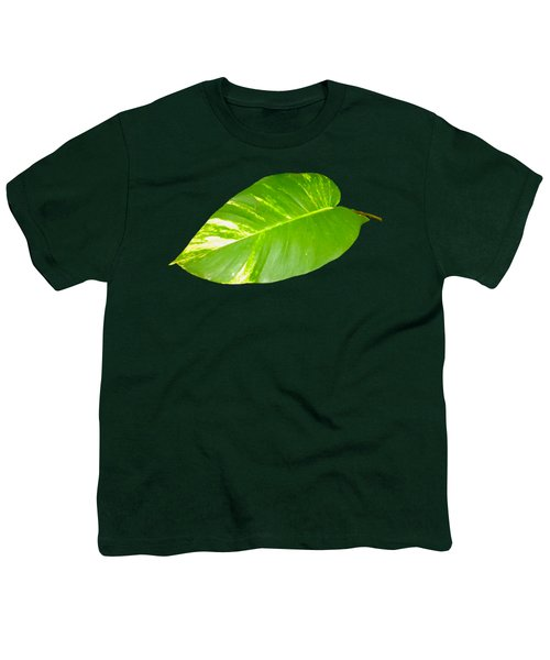 Youth T-Shirt featuring the digital art Large Leaf Art by Francesca Mackenney
