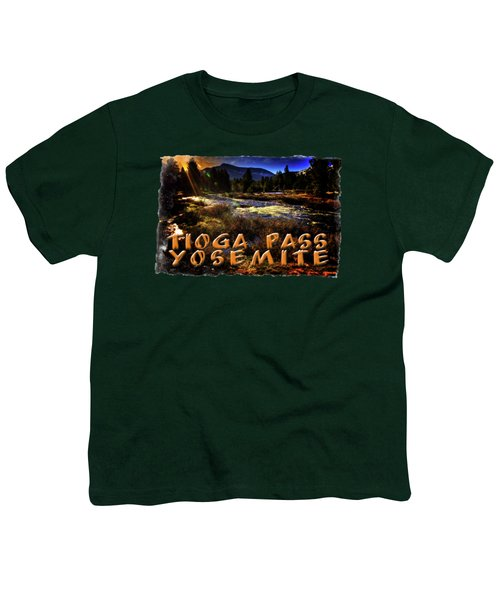 Mine Creek Between Lakes Ellery And Tioga Youth T-Shirt by Roger Passman