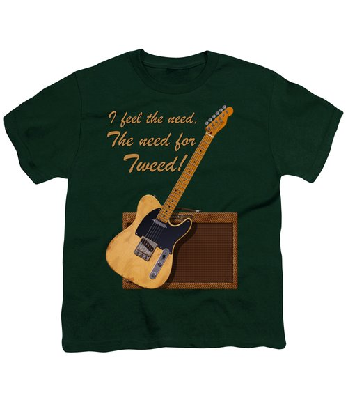 Need For Tweed Tele T Shirt Youth T-Shirt