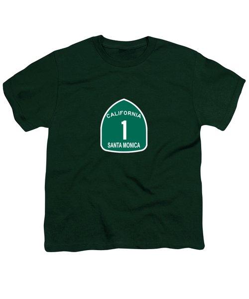 Pch 1 Santa Monica Youth T-Shirt by Brian's T-shirts