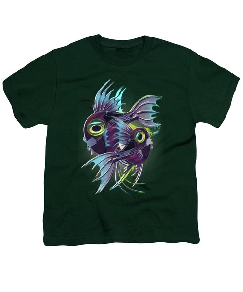 Pisces Youth T-Shirt by Melanie D