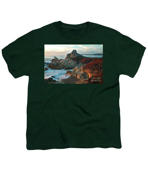 Ribera Beach Sunset Carmel California Youth T-Shirt
