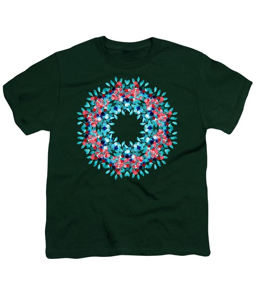 Summer Wreath Youth T-Shirt by Mary Machare