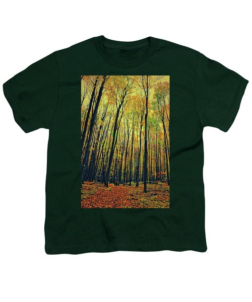 Youth T-Shirt featuring the photograph The Woods In The North by Michelle Calkins