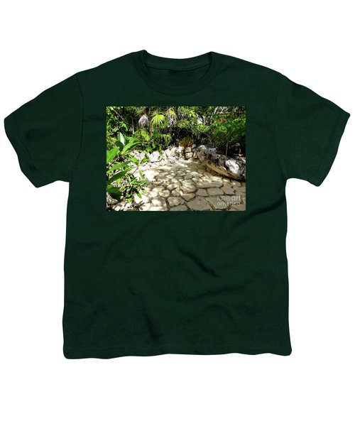 Youth T-Shirt featuring the photograph Tropical Hiding Spot by Francesca Mackenney