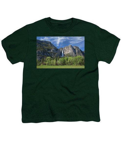Upper Yosemite Falls In Spring Youth T-Shirt